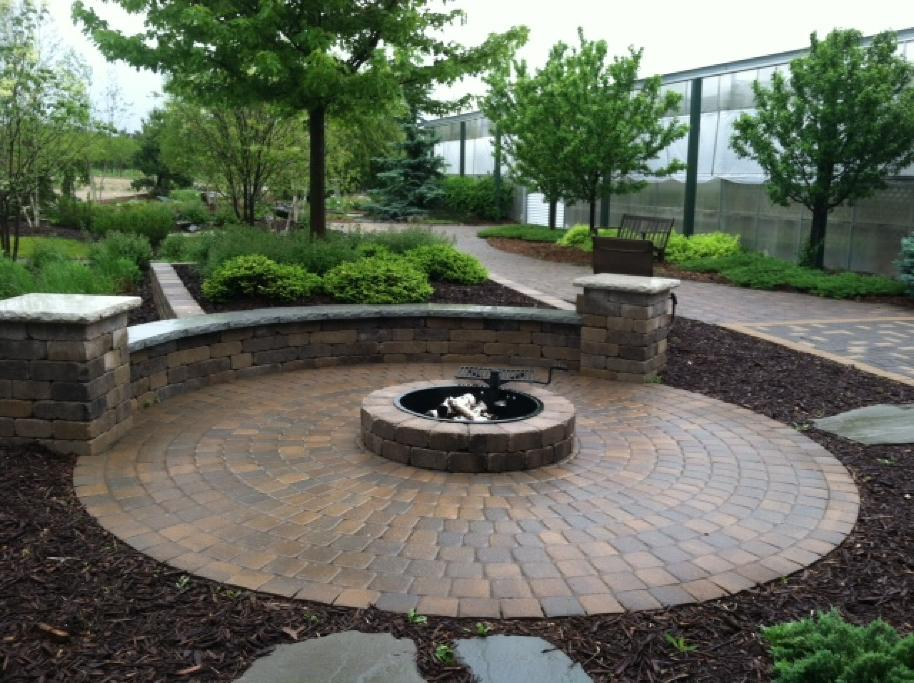 paver block fire area